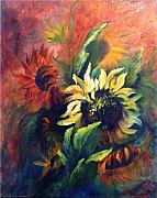 Elaine Bailey - Sunflowers in red