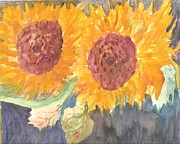 Sunflowers Art - Sunny Sunflowers by Thelma Harcum