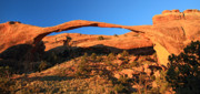 Sunrise At Landscape Arch In Arches National Park Print by Pierre Leclerc Photography