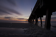 Tybee Island Pier Photos - Sunrise by Gagan  Dhiman