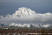 Snow-covered Landscape Photo Prints - Sunrise in Grand Teton National Park Print by Pierre Leclerc