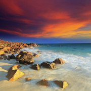 Tropical Sunset Prints - Sunrise Print by MotHaiBaPhoto Prints