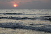 Sunrise Over Arabian Sea Hawf Protected Print by Sebastian Kennerknecht
