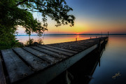 New York Prints - Sunrise over Cayuga Lake Print by Everet Regal