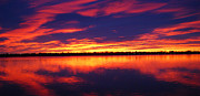 Loveland Prints - Sunrise over Lake Loveland Print by Billie Colson