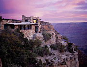 Grand Canyon Photos - Sunrise over Lookout Studio by Mike Buchheit