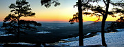 Ozark Mountains Framed Prints - Sunset Atop Snowy Mt. Nebo Framed Print by Jason Politte