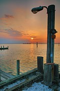Chincoteague Island Prints - Sunset Bay III Print by Steven Ainsworth