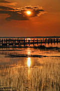 Chincoteague Island Prints - Sunset Bay IV Print by Steven Ainsworth