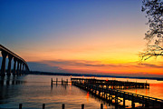 Sunset Bridge Print by Kelly Reber