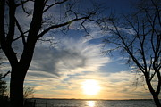 Thomas Pyrography Metal Prints - Sunset Chesapeake Bay Metal Print by Valia Bradshaw
