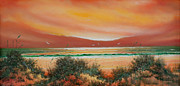 Sand Dunes Paintings - Sunset Dunes by Charles Yates