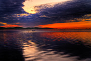 Small Boat Prints - Sunset Print by Gert Lavsen