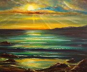 Beach Sunsets Originals - Sunset by Gina De Gorna