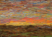 Dusk Paintings - Sunset by James W Johnson
