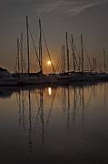 Boats In Harbor Prints - Sunset Print by Joana Kruse