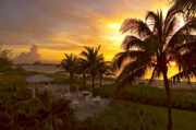 Sunset Seascape Digital Art Prints - Sunset on Grace Bay Print by Stephen Anderson