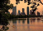 Austin Skyline Art - Sunset on the Lake by Gary Ormont