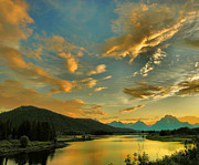 River Greeting Cards Photos - Sunset on the Snake River  by Steven Ainsworth