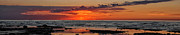 Sun Rise Prints - Sunset Over Lake Michigan Print by Brian Mollenkopf