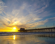 Elite Photos - Sunset over the Pacific Ocean in Newport Beach California by the by ELITE IMAGE photography By Chad McDermott