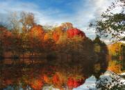 Autumn Foliage Photos - Sunset Reflections by Jessica Jenney