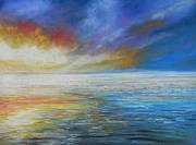 Reflecting Water Pastels - Sunset  by Ruth Scott