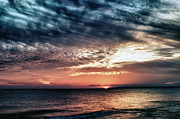 Orange Beach Prints - Sunset Print by Stylianos Kleanthous