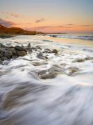 Ebb Photos - Sunset Tides by Mike  Dawson
