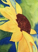 Wet Into Wet Watercolor Prints - Sunshine Print by Bonnie Wright