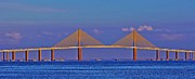 Florida Bridges Prints - Sunshine Skyway Bridge Print by William Hanus
