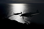 Old Objects Prints - Supermarine Spitfire Mk. Xviii And Mk Print by Daniel Karlsson