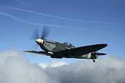 Spitfire Prints - Supermarine Spitfire Mk.xvi Fighter Print by Daniel Karlsson