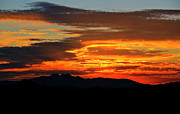 Southwest Landscape Metal Prints - Superstition Sunrise  Metal Print by Saija  Lehtonen