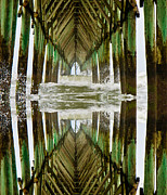 Pier Digital Art - Surf City Pier Reflection by Betsy A Cutler East Coast Barrier Islands