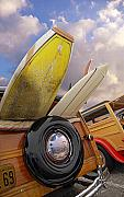 Hubcap Art - Surf Toys by Ron Regalado