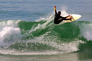 Spray Photos - Surfer by Carlos Caetano