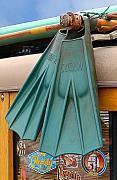 Surfin Fins Print by Ron Regalado
