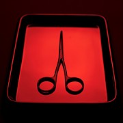 Scissors Framed Prints - Surgical Scissors Framed Print by Tek Image