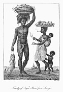 Narrative Of An Expedition Prints - Surinam: Slave Family, 1796 Print by Granger