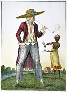 J.g Framed Prints - Surinam: Slave Owner, 1796 Framed Print by Granger