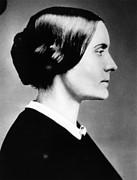 Susan B. Anthony Framed Prints - Susan B. Anthony 1820-1906, American Framed Print by Everett