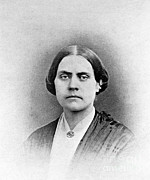 Abolition Movement Metal Prints - Susan B. Anthony, American Civil Rights Metal Print by Photo Researchers, Inc.