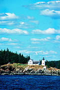 Thomas R. Fletcher Digital Art Prints - Swans Island Lighthouse Print by Thomas R Fletcher