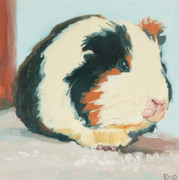 Pig Paintings - Sweet Guinea by Debbie Beukema