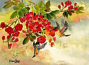 Vine Paintings - Sweet Journey VI by Eileen  Fong