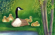 Mother Goose Painting Framed Prints - Sweet Repose  Framed Print by Jeanne Kay Juhos