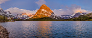 Many Glacier Prints - Swiftcurrent Lake Panorama Print by Greg Nyquist