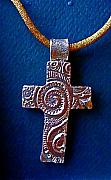 Metal Jewelry - Swirly Cross by Cydney Morel-Corton