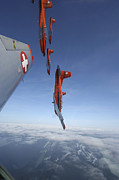 Stunt Prints - Swiss Air Force Display Team, Pc-7 Print by Daniel Karlsson